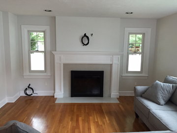 Needham MA fireplace renovate