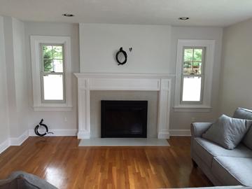 Needham MA fireplace renovate